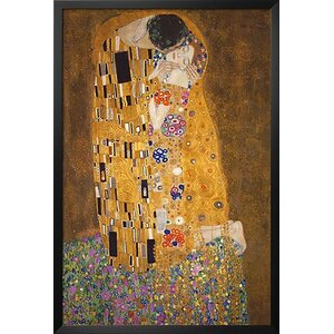 'The Kiss, Le Baiser' by Gustav Klimt Framed Painting Print by Buy Art For Less