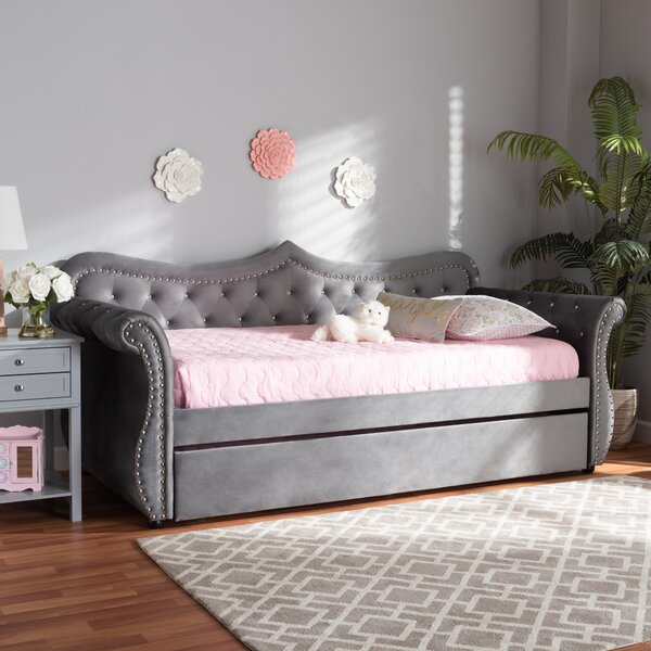 Holtman Twin Solid Wood Daybed With Trundle By House Of Hampton