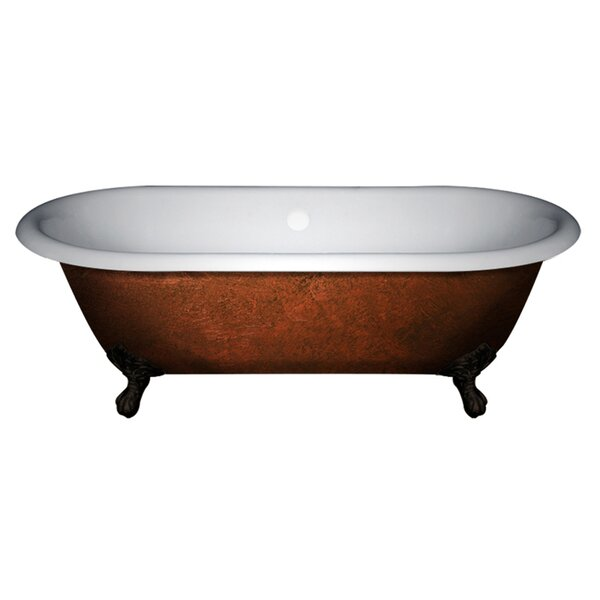 Acrylic Slipper Clawfoot 70 x 30 Freestanding Soaking Bathtub by Cambridge Plumbing