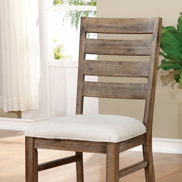 Review Tawanna Ladder Back Side Chair In Natural Tone (Set Of 2)