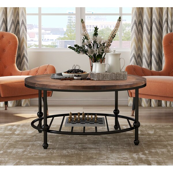Searle 4 Legs Coffee Table With Storage By Union Rustic