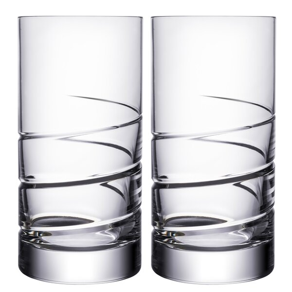 Swerve 19 oz. Crystal Every Day Glass (Set of 2) by Orrefors