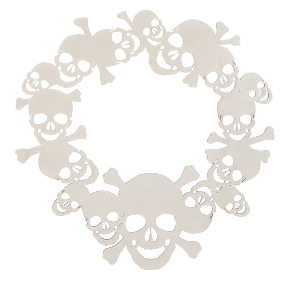 16 Plywood Sugar Skull Wreath by The Holiday Aisle