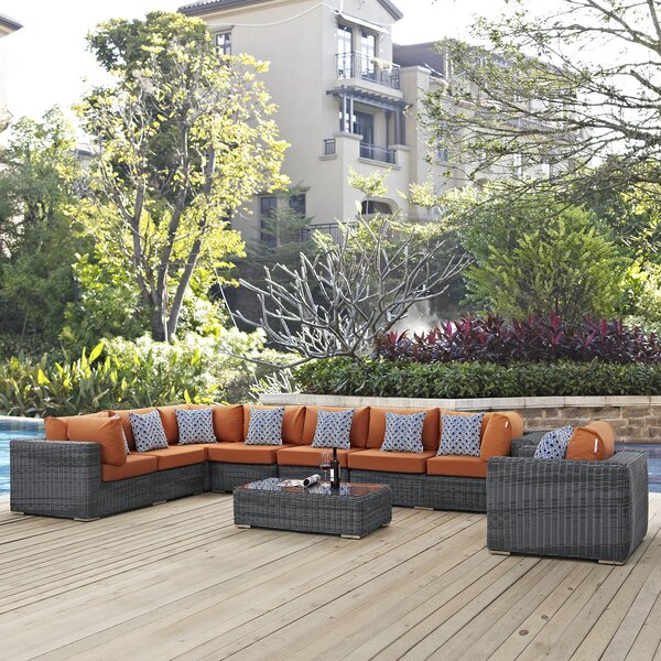 Keiran 7 Sunbrella Sectional Set with Cushions by Brayden Studio