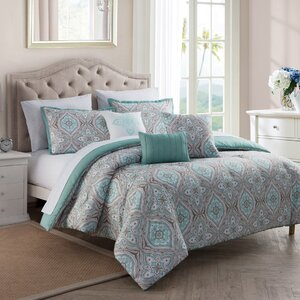 Laberge 10 Piece Reversible Comforter Set