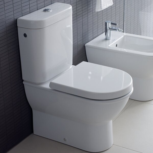 Darling New 1.28 GPF (Water Efficient) Elongated Two-Piece Toilet (Seat Not Included) by Duravit