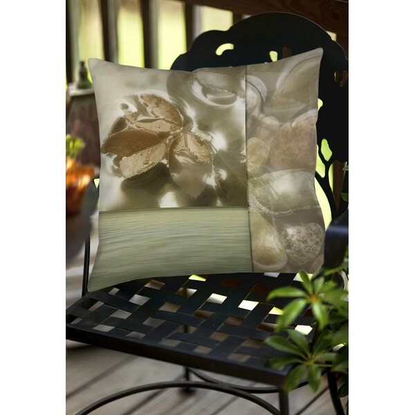 Natural Elements 1 Indoor/Outdoor Throw Pillow by Manual Woodworkers & Weavers