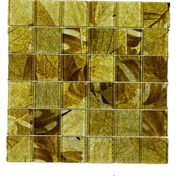 2 x 2 Glass Tile in Gold by Multile