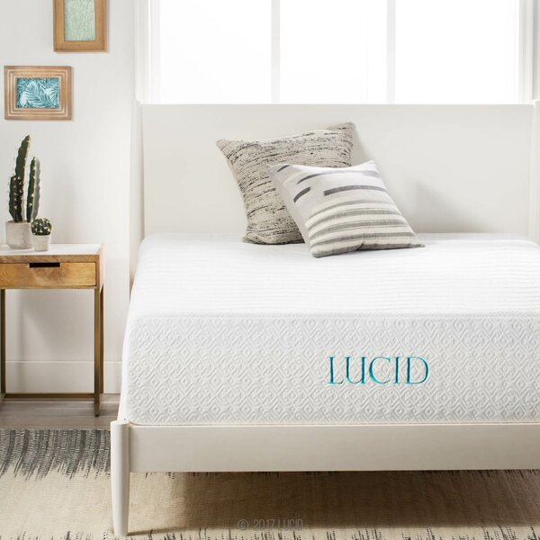 14 Medium Plush Gel Memory Foam Mattress by Lucid