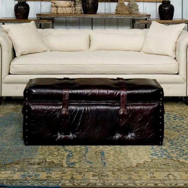 Laramie Trunk Leather Storage Bench by Sarreid Ltd