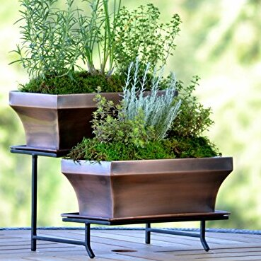 2-Piece Iron Planter Box Set by H. Potter