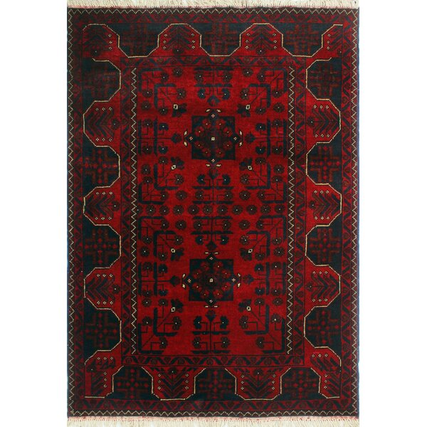 One-of-a-Kind Millar Jaha Hand-Knotted Wool Red Are Rug by Bloomsbury Market