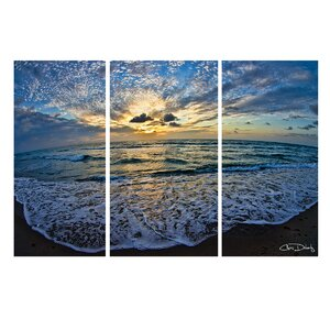 'Ocean' by Christopher Doherty 3 Piece Photographic Print on Wrapped Canvas Set by Ready2hangart