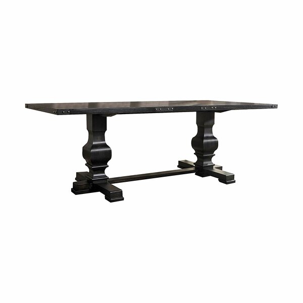 Jaclyn Double Pedestal Dining Table by Ophelia & Co. Ophelia & Co.