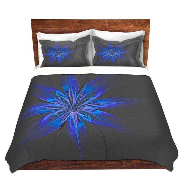 Silk Flower Dark Duvet Cover Set