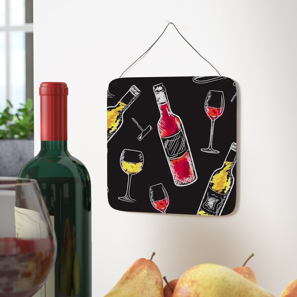 Red and White Wine Contemporary Metal Wall Décor by East Urban Home