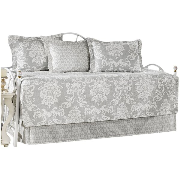 Venetia Gray 5 Piece Twin Daybed Quilt Set by Laura Ashley Home by Laura Ashley Home