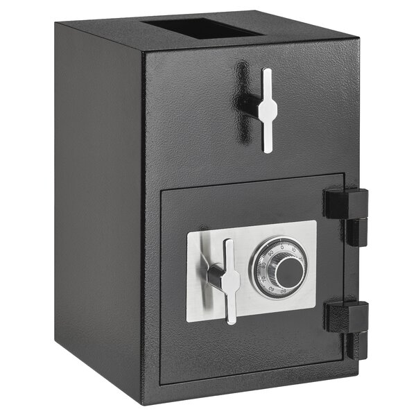 Rotating Drop Slot Safe Box with Dial/Combination Lock by AdirOffice