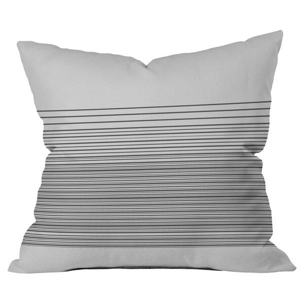 Matt Leyen Gradient Dark Outdoor Throw Pillow by Deny Designs