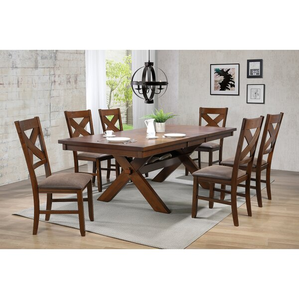 Great price Griffen Rustic 7 Piece Solid Wood Dining Set By Gracie Oaks Sale