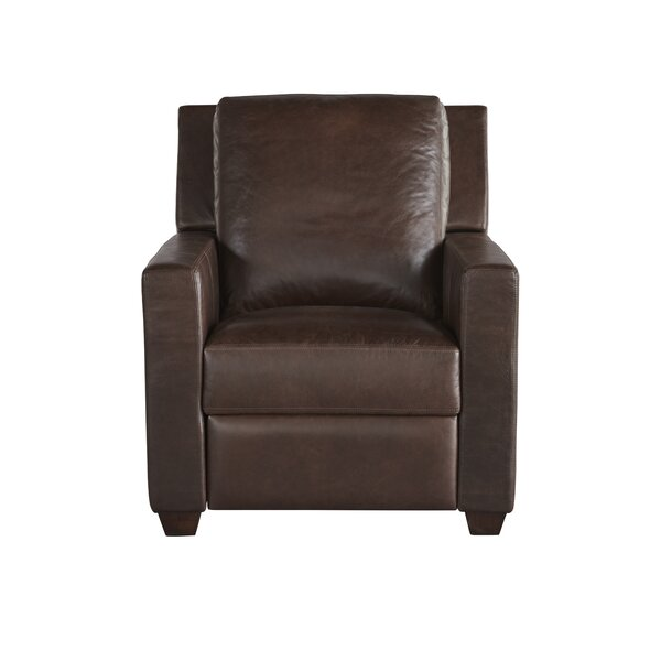 Mandel Leather Recliner by Red Barrel Studio