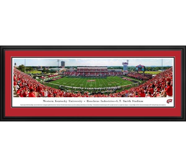 NCAA Western Kentucky Football 50 Yard Line Framed Photographic Print by Blakeway Worldwide Panoramas, Inc
