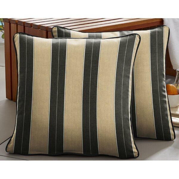 Jacque Indoor/Outdoor Striped Throw Pillow (Set Of 2) By Mercer41
