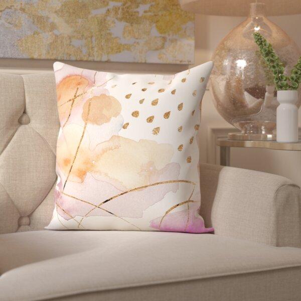 Paola Rain or Shine Gold Throw Pillow by Mercer41