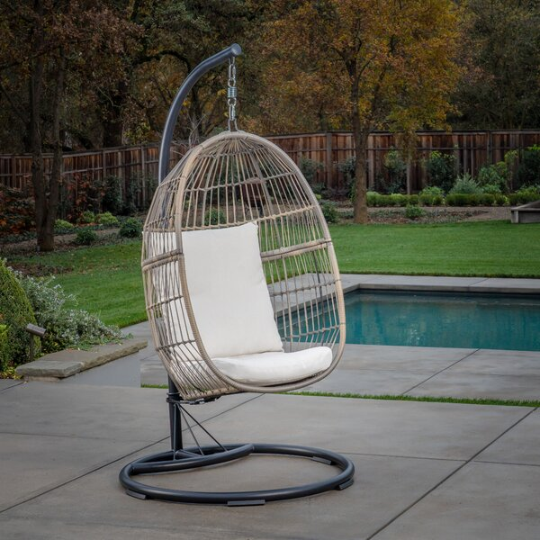Yokoyama Hanging Swing Chair with Stand by Bungalow Rose