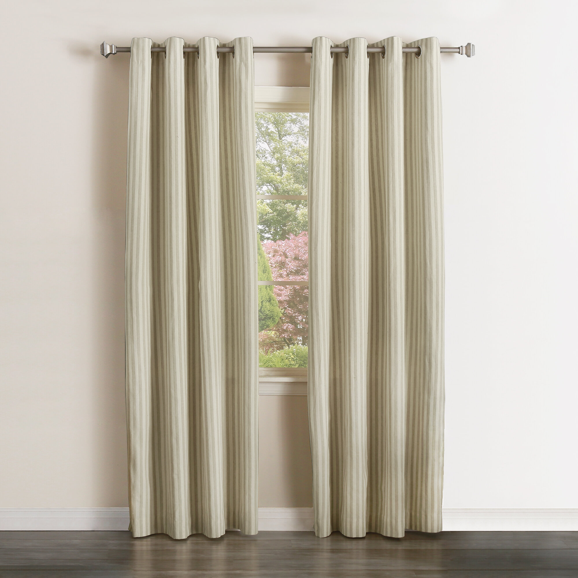 Best Home Fashion Inc Vertical Striped Semi Sheer