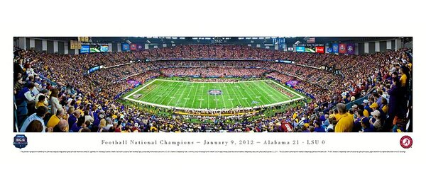 NCAA BCS Football Championship 2012 Photographic Print by Blakeway Worldwide Panoramas, Inc