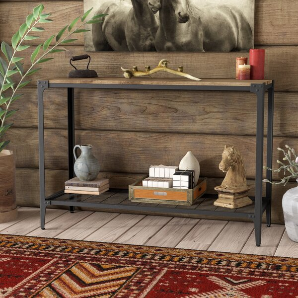 Cainsville Rustic Wood Console Table by Greyleigh