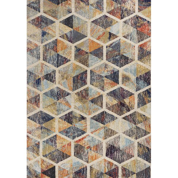 Forbis Prisms Ivory Area Rug by Wrought Studio