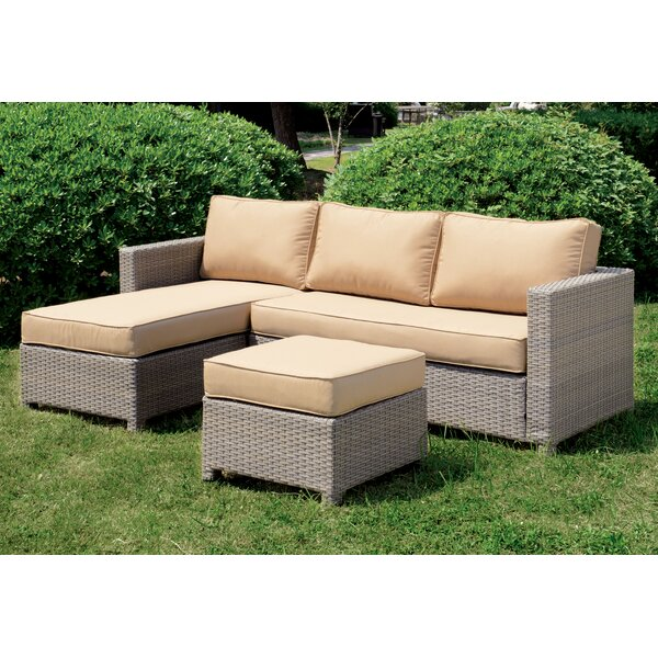 Faustina Patio Sectional with Cushions by Longshore Tides Longshore Tides