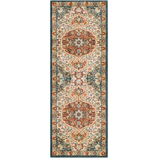 Grayer Classic Burnt Orange/Teal Area Rug by Alcott Hill