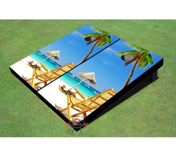 Beach Chair Near Umbrella Cornhole Board (Set of 2) by All American Tailgate