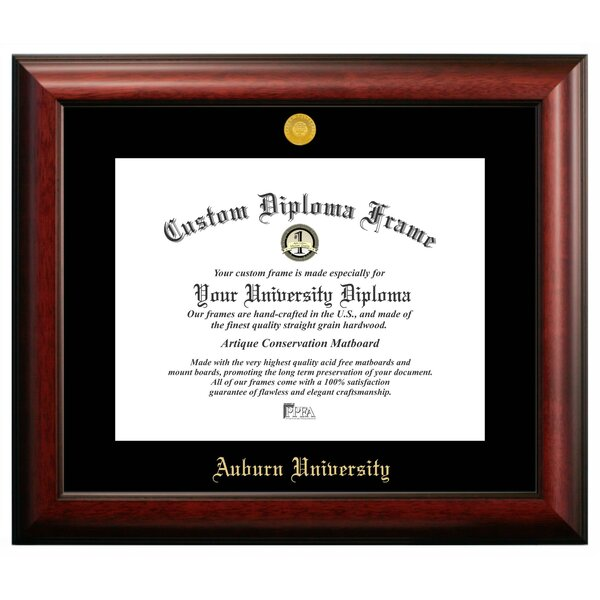 NCAA Auburn University Gold Embossed Diploma Picture Frame by Campus Images