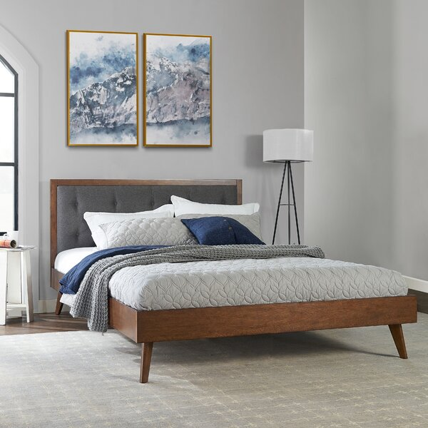Dewsbury Mid Century Queen Upholstered Platform Bed by Corrigan Studio