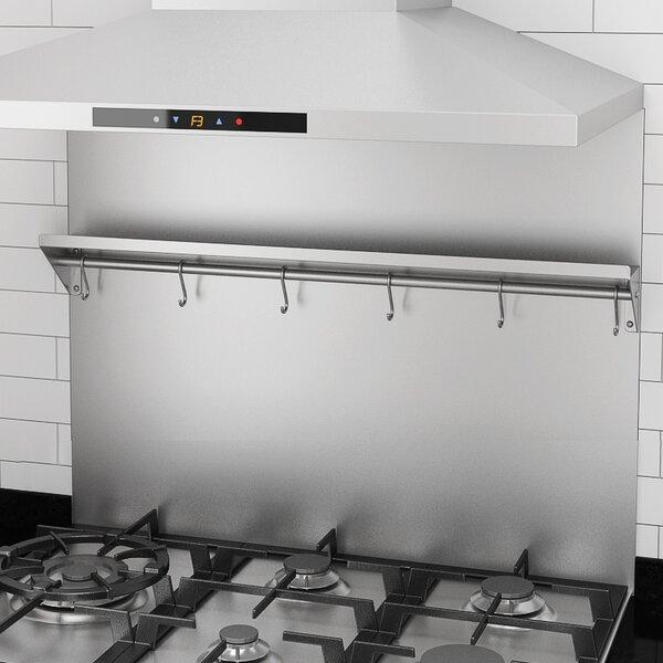 Ancona Backsplash Stainless Steel Wall Mounted Pot Rack U0026 Reviews | Wayfair