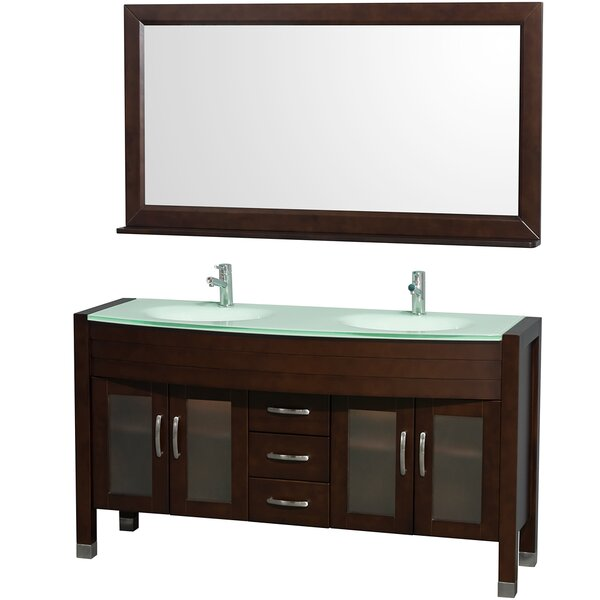Daytona 60 Double Espresso Bathroom Vanity Set with Mirror by Wyndham Collection