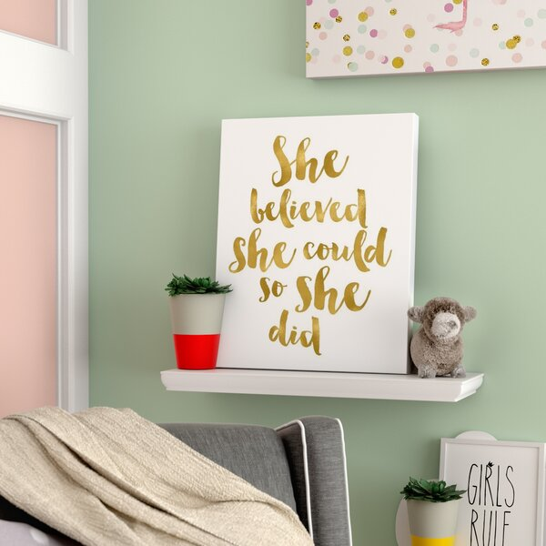 Shumake She Believed She Could Canvas Art by Viv + Rae