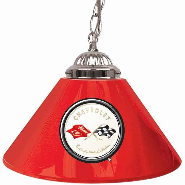 Corvette C1 14 Single Shade Bar Lamp in Red by Trademark Global