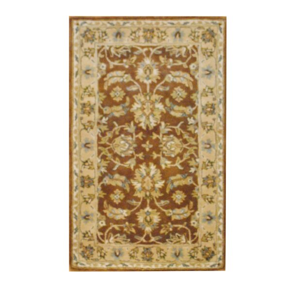 Hand-Tufted Wool Brown/Beige Area Rug by Herat Oriental