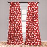 Living Room Red Curtains | Wayfair