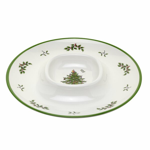 Christmas Tree Chip and Dip Platter by Spode