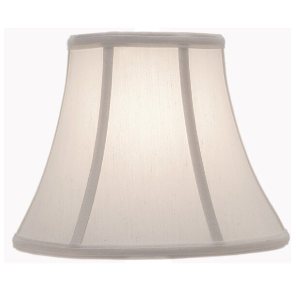 9.75 H Silk/Shantung Bell Lamp Shade ( Spider ) in Pearl