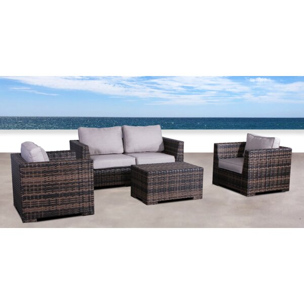 Pierson Resort 4 Piece Sofa Set with Cushions by Brayden Studio