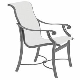 Montreux Patio Dining Chair with Cushion by Tropitone