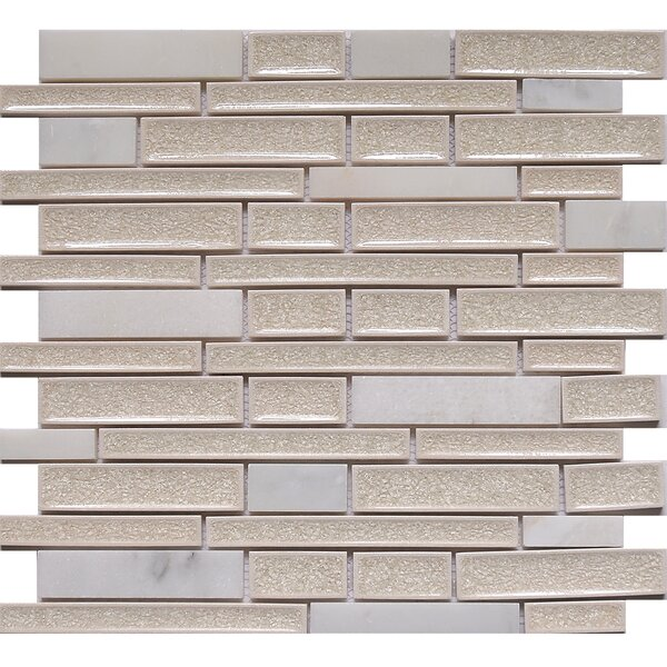 Urban Yukon Crackled Random Sized Glass Mosaic Tile in White/Gray by Matrix Stone USA