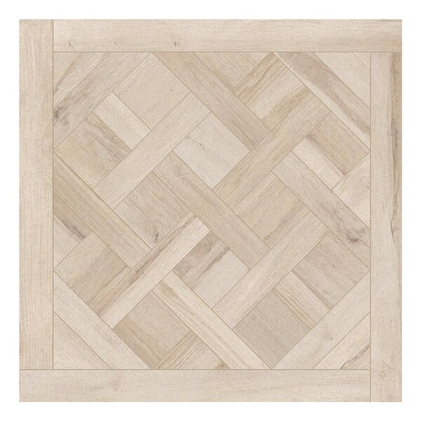 Travel Cassettone Decor 24 x 24 Porcelain Wood Look Tile in North White by Travis Tile Sales